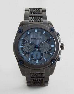 Черные часы с сетчатым ремешком Police - Черный