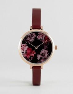 Часы с цветочным циферблатом ASOS - Красный