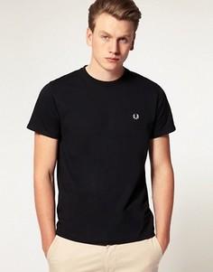 Черная футболка с круглым вырезом Fred Perry - Черный