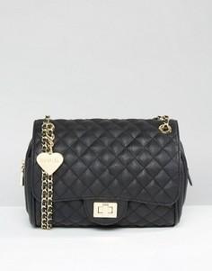 Стеганая сумка на плечо Marc B Knightsbridge - Черный