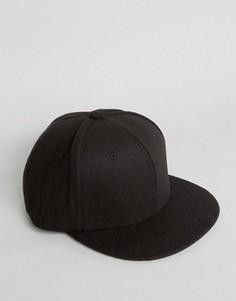 Фетровая черная бейсболка 7X - Бежевый