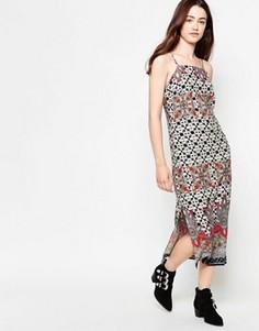 Платье миди с платочным принтом Madam Rage - Мульти