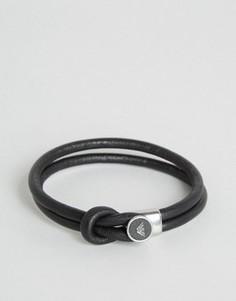 Черный браслет с логотипом Emporio Armani - Черный
