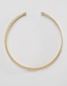 Многослойное структурированное ожерелье DesignB - Золотой