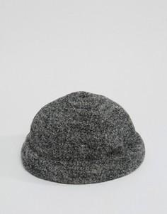 Серая меланжевая шапка ASOS - Серый