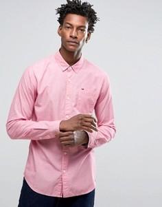 Рубашка классического кроя из ткани шамбре Hilfiger Denim - Красный