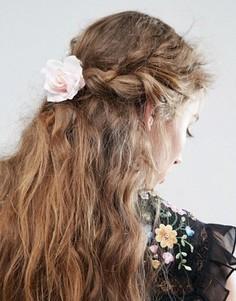 Резинка для волос с розой пастельного цвета ASOS - Мульти