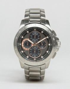 Серебристые наручные часы с хронографом Michael Kors MK8528 Ryker - Серебряный
