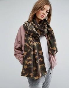 Oversize-шарф с камуфляжным принтом ASOS - Зеленый