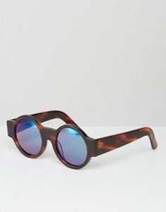 Круглые солнцезащитные очки House of Holland Wideside - Коричневый