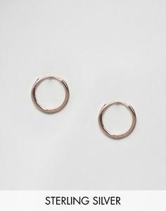 Золотисто-розовые массивные серьги-кольца ASOS 12 мм - Медный