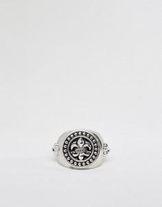 Серебристое кольцо с геральдической лилией Rebel Heritage - Серебряный