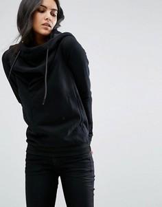 Свободное худи со шнурком G-Star - Черный