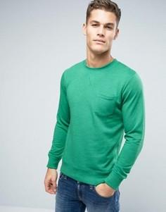 Свитшот с карманом Esprit - Зеленый