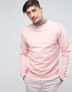 Классический свитер с круглым вырезом Edwin - Розовый