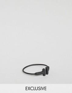 Черное матовое кольцо с Т-образной отделкой DesignB - Черный