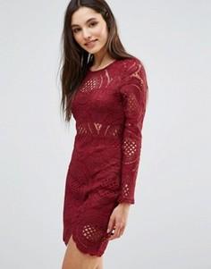 Кружевное платье Parisian - Красный