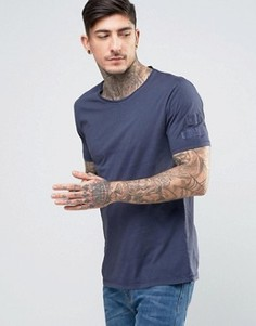 Футболка с нашивками Nudie Jeans Co Ove - Темно-синий