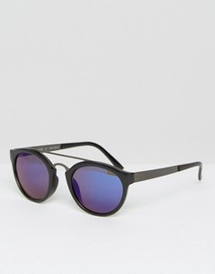 Круглые солнцезащитные очки с зеркальными стеклами AJ Morgan - Черный