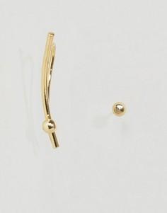 Позолоченные серьги Pieces Hilli - Золотой