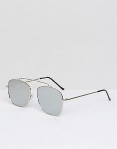 Солнцезащитные очки-авиаторы с серебристыми зеркальными стеклами Spitfire Beta - Серебряный