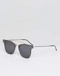 Солнцезащитные очки с двойной переносицей и зеркальными плоскими стеклами Spitfire - Черный