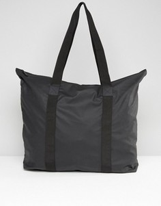 Черная вместительная сумка-тоут Rains - Черный