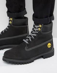 Черные премиум-ботинки Timberland 6 дюймов - Черный
