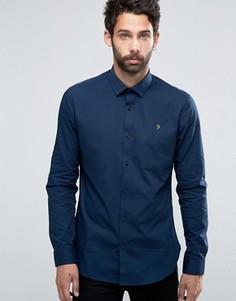 Строгая рубашка слим Farah Berbick - Синий