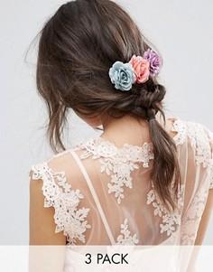 3 заколки для волос с розами ASOS - Мульти