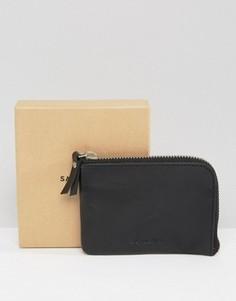 Черный кожаный бумажник Sandqvist Penny - Черный