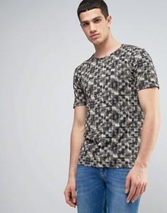 Приталенная футболка с принтом Only & Sons - Черный