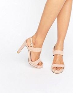 Замшевые босоножки на каблуке Dune Bridal Maye - Розовый