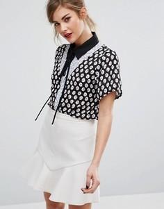 Комбинируемая рубашка с завязкой на бант у горловины Fashion Union - Мульти