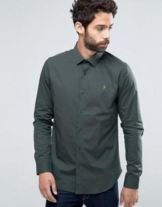Строгая рубашка слим Farah Berbick - Зеленый