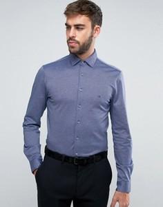 Строгая трикотажная рубашка скинни Calvin Klein - Синий