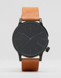 Светло-коричневые часы с кожаным ремешком Komono Winston Regal - Рыжий