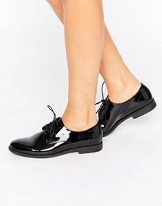 Черные лакированные кожаные туфли на шнуровке Vagabond Tay - Черный