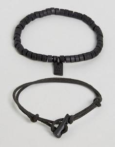 Набор из 2 браслетов Icon Brand - Черный
