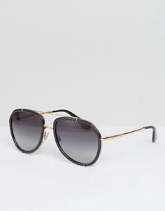 Солнцезащитные очки-авиаторы Dolce & Gabbana - Черный