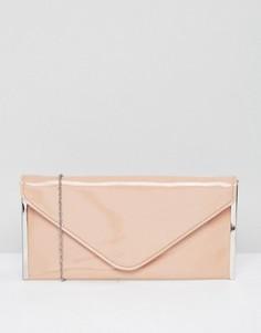 Клатч телесного цвета Faith Promise - Розовый
