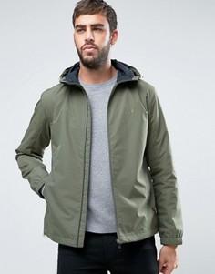 Зеленая куртка-ветровка с капюшоном Farah Newbern - Зеленый
