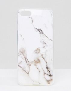 Белый чехол для iPhone 7 с мраморным дизайном Signature - Белый