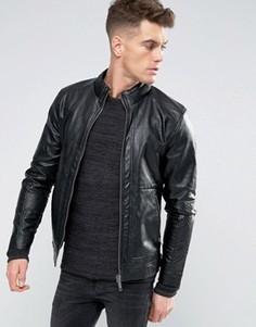 Куртка из искусственной кожи Blend - Черный