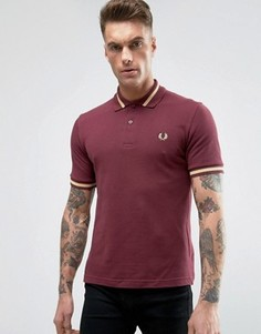 Fred Perry REISSUES Polo Single Tipped M2 Pique in Aubergine/Champagne - Фиолетовый