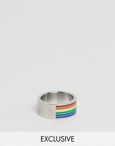 Кольцо с радужной отделкой Reclaimed Vintage - Серебряный
