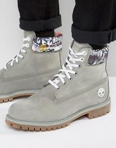 Серые ботинки-премиум Timberland 6 дюймов - Серый