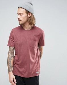 Красная меланжевая футболка с карманом Element - Красный