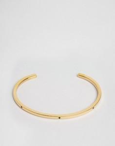 Золотистый браслет-манжета Mister Level Plus - Золотой