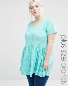Блузка с выжженным эффектом Lovedrobe Plus - Зеленый